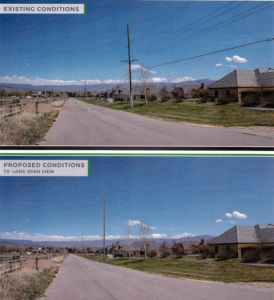 Current and possible view in Midway as a result of the proposed power poles